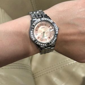 Guess watch pink face